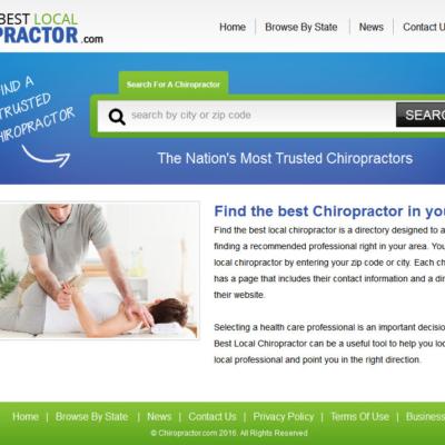 Find The Best Local Chiropractor